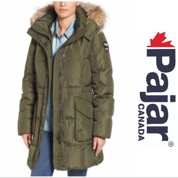 Pajar Womens Down Coat Parka Jayde White